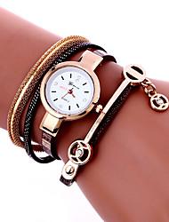Недорогие -Женские Модные часы Наручные часы Часы-браслет Цветной Кварцевый PU Группа Винтаж Богемные С подвесками Кольцеобразный Cool Повседневная