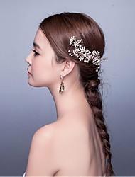 Donne Perle Strass Lega Copricapo-Matrimonio Occasioni speciali CasualFasce Fiori Ghirlande di fiori Catenina per la testa Utensili per