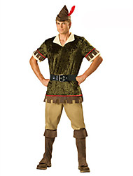 cheap -Soldier / Warrior / Career Costumes Cosplay Costume / Party Costume / Masquerade Men's Christmas / Halloween Festival / Holiday Halloween Costumes Green Print