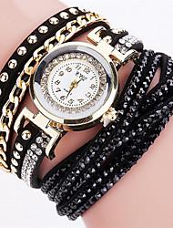 Недорогие -Жен. Наручные часы Часы-браслет Модные часы Кварцевый Цветной PU Группа Кулоны Блестящие Винтаж Конфеты На каждый день Богемные Cool