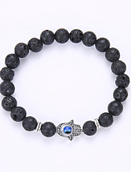 cheap -Men's Women's Evil Eye Hamsa Hand Charm Bracelet Strand Bracelet - Friendship Fashion Evil Eye Hamsa Hand Black Bracelet For Party Gift