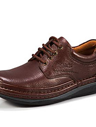 cheap -Men's Shoes Nappa Leather Fall / Winter Comfort Oxfords Black / Coffee / Party & Evening