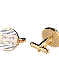 Groom Groomsman Ring Bearer Zinc Alloy Cufflinks & Tie ClipsWedding Anniversary Birthday Congratulations Graduation Thank You Business