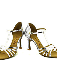 economico -Per donna Balli latino-americani Salsa Brillantini Finta pelle Sandali Tacchi Prestazioni Professionale Fibbia Nastro Tacco su misura