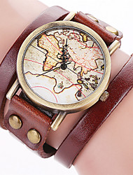 Women's Fashion Watch Wrist watch Bracelet Watch Punk Colorful Large Dial Quartz Leather BandVintage Candy color Bohemian Charm Bangle