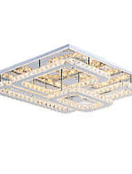 cheap -Modern Led Ceiling Light Flush Mount Transparent Crystal Stainless Steel 90-265V for Living Room Bed Room Hallway