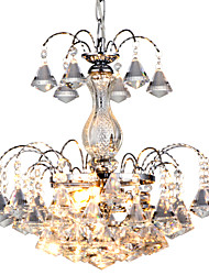 cheap -Chandelier ,  Traditional/Classic Chrome Feature for Crystal Metal Bedroom Dining Room Study Room/Office Hallway