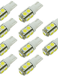 cheap -W5W 168 194 T10 9 SMD Led Car Bulb for Reading/Side Marker/Door Light Warm/Cool Whie 12V DC (10 Pieces)