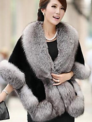 Women's Faux Fur Triangle,Casual Solid Winter