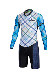 2016 Malciklo Hombre Cycling Jersey Long Sleeve Checked Triathlon Skinsuit Ropa Maillot Ciclismo Men Cycling Clothing