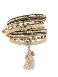 Women's Charm Bracelet Wrap Bracelet Leather Bracelet Bracelet Love Costume Jewelry Fashion Vintage Bohemian Personalized Handmade Luxury