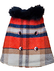 Chien Manteaux Veste Vêtements pour Chien Garder au chaud Mode Tartan Arc-en-ciel