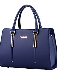 cheap -Women's Bags PU(Polyurethane) Tote Rivet Solid Colored Light Blue / Royal Blue / Lavender