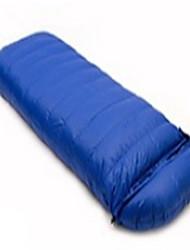 baratos -Saco de dormir Retangular Solteiro (L150 cm x C200 cm) 10 Penas de Pato30 Campismo Á Prova-de-Chuva Dobrável Portátil Selado