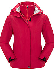 Women's Hiking Jacket Waterproof Thermal / Warm Windproof Anti-Insect Breathable Windbreaker Softshell Jacket Top for Camping / Hiking