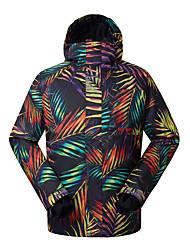 GSOU SNOW Skijacke Herrn Skifahren Winter Sport Wasserdicht warm halten Windundurchlässig UV-resistant tragbar Atmungsaktiv Polyester