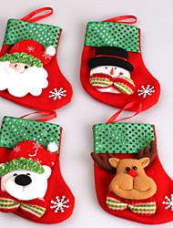 Meias Finas Ornamentos Animais Boneco de Neve Santa Residencial Comercial Interior ExteriorForDecorações de férias
