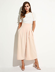 cheap -Women's Chic & Modern Loose Wide Leg Pants - Solid Colored Solid Color