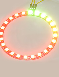 cheap -Smart Full-color LED RGB Ring Crab Kingdom WS2812 RGB Lamp Ring 5050 Development Board  24