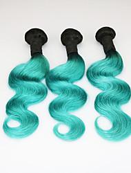 Green Ombre Human Hair Weave Bundles 7A 1B Green 2 Tone Brazilian Body Wave Ombre Hair duck Green Ombre Hair Extensions