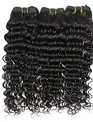 3 Bundles Brazilian Virgin Remy Hair Deep Wave Human Hair Weave Extensions 300g