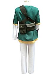 Inspiriert von The Legend of Zelda Link Anime Cosplay Kostüme Cosplay Kostüme Patchwork LangarmMantel Top Hosen Gürtel Mehre Accessoires