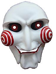 Недорогие -Маски / Товары для Хэллоуина Белый и красный Смола Косплэй аксессуары Хэллоуин / Карнавал / Новый год