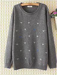 cheap -Women's Long Sleeves Pullover Print