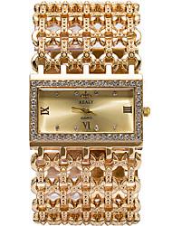 Недорогие -Женские Модные часы / Наручные часы Кварцевый / сплав Группа Cool / Повседневная Серебристый металл / Золотистый / Розовое золото марка