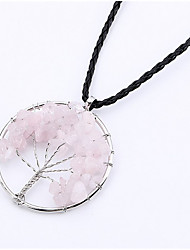 cheap -Men's Women's Jewelry Tree of Life Fashion Pendant Necklace Silver Pendant Necklace , Birthday Gift Daily