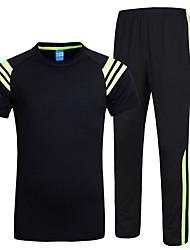 Per uomo T-shirt e pantaloni da corsa Manica corta Morbido Comodo Tuta da ginnastica Set di vestiti per Esercizi di fitness Corsa Cotone