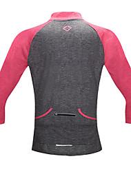 SANTIC Maglia da ciclismo Per donna Bicicletta T-shirt Maglietta/Maglia Top Resistente ai raggi UV Traspirante Morbido Poliamide Retrò