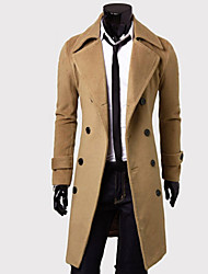 Men's Work Simple Vintage Casual Winter Fall Coat,Solid Long Sleeve Long