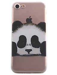 cheap -For iPhone X iPhone 8 iPhone 7 iPhone 6 iPhone 5 Case Case Cover Transparent Pattern Back Cover Case Animal Panda Soft TPU for Apple