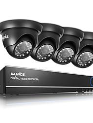 Недорогие -sannce® 720p открытый ИК-камера безопасности дома 1080n 4ch HD DVR система видеонаблюдения встроенный 1tb НЖМД