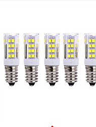 cheap -5pcs 5W 2700-3000/6000-6500lm E14 LED Corn Lights T 51 LED Beads SMD 2835 Warm White Cold White 220V