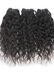 Недорогие -3 Связки Бразильские волосы Волнистые 8A Человека ткет Волосы Ткет человеческих волос Расширения человеческих волос / Лёгкие волны