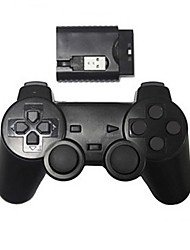 economico -nuovo controller di gioco scossa wireless controller wireless ps2 / ps3 / pc (2.4GHz / nero)