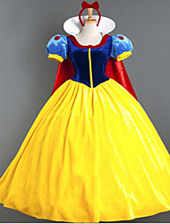 cheap -Cosplay Costumes/Party Costumes Fairytale Charming Snow Princess Satin Halloween Female Princess Dress Costumes