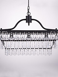 cheap -Chandelier ,  Traditional/Classic Painting Feature for Crystal Metal Dining Room Study Room/Office Entry