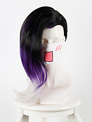 cheap -Synthetic Wig / Cosplay & Costume Wigs Straight Synthetic Hair Black Wig Women's Long / Very Long Capless