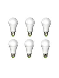 7W E26/E27 Lâmpada Redonda LED A60(A19) 1 leds COB Branco Quente 450-500lm 3000K AC 100-240V