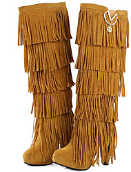 Women's Boots Spring / Fall / Winter Gladiator Fur Party & Evening / Dress / Casual Stiletto Heel Tassel Black / Yellow / Red / Coffee