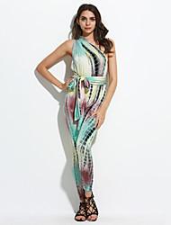 Teal Lime Tie Dye Print Multi-way Jumpsuit