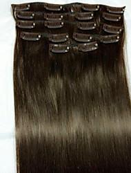 8pcs / sæt 24 # 2 Remy menneskelige hår extensions hår forlængelse typen menneskelige hår extensions
