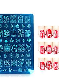 MR Christmas Series Nail Art Stamp Stamping Stainless Steel Mold Nail Polish Printing Stencil Nail Template Tools