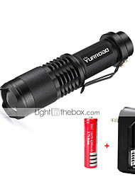 Handheld Flashlights/Torch LED 3000 lumens Lumens 5 Mode Cree XM-L T6 1 x 18650 Battery Mini Adjustable Focus Impact Resistant Nonslip