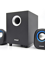 preiswerte -Bücherregal Computer-Lautsprecher 2.1 CH Transportabel LED Licht Stereo Surround Sound Super Bass