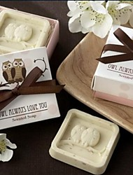 Holiday Gifts Flower Fragrance Mini Owl Shape Soap (Random Color)