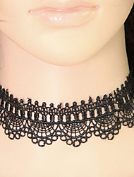 Women's Choker Necklaces Collar Necklace Lace Fashion Black Purple Pink Light Pink Jewelry Party Casual 1pc